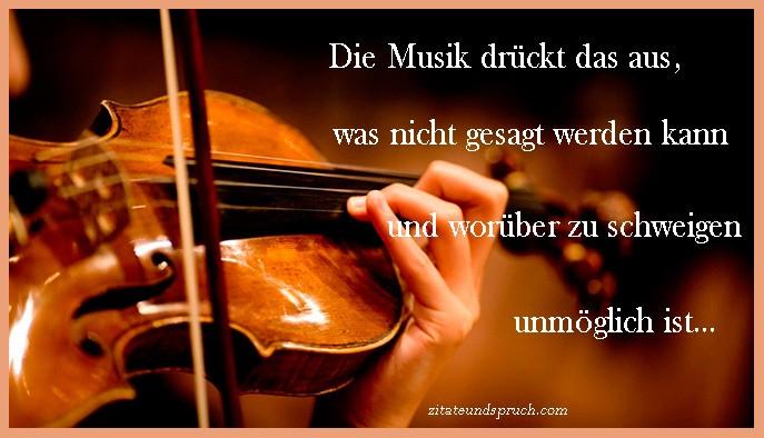 Sprüche von die Musik